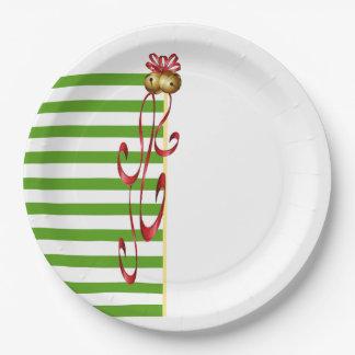 Jingle And Mingle Christmas Party Paper Plates