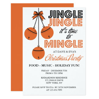 Jingle and Mingle Holiday/Christmas Party Card