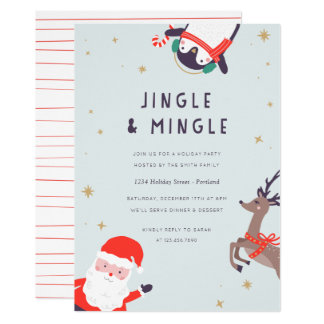 Jingle and Mingle Holiday Party Card