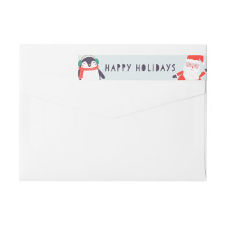 Jingle and Mingle Holiday Wrap Around Label
