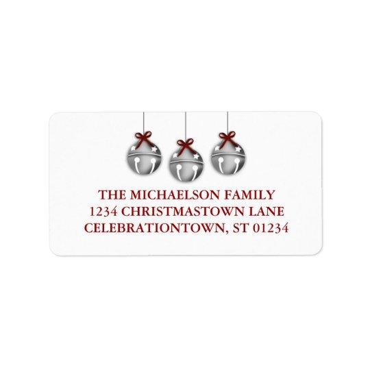 Jingle Bell Christmas Address Labels