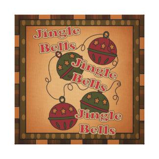 Jingle Bell Christmas Holiday Canvas