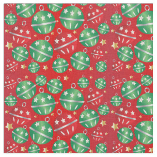 Jingle Bell Christmas Ornament Pattern Fabric