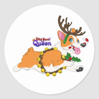 Jingle Bell Corgi- Stickers