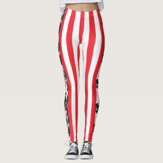 Jingle bell stripe leggings