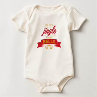 Jingle Bells Christmas Carol Holiday Celebration Baby Bodysuit