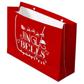 Jingle Bells Christmas Large Gift Bag