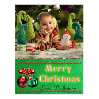 Jingle Bells  Christmas Postcard Personalized
