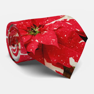 Jingle Bells Poinsettia Tie