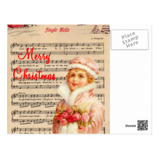 jingle bells postcard