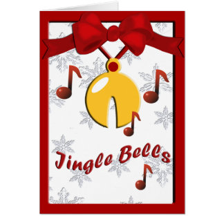 Jingle Bells Sleigh Bells Greeting Card