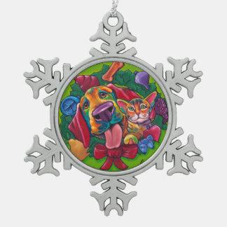 Jingle & Bells Snowflake Ornament by Ron Burns