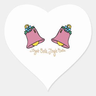 Jingle Bells Heart Sticker