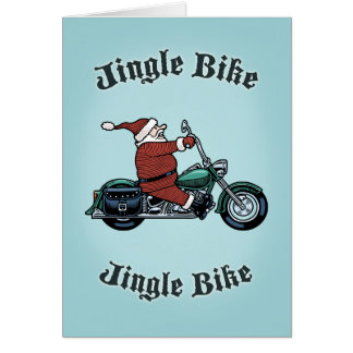 Jingle Bike Greeting Card