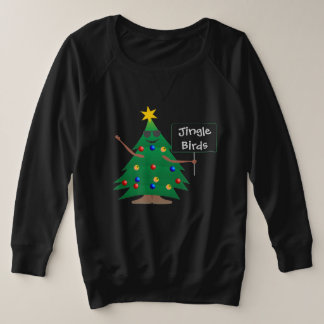 Jingle Birds Womens Plus Size Sweatshirt