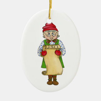 "Jingle Elves ""Alfred"" Ceramic Ornament"