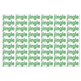 Jingle Green White Christmas Tissue Paper