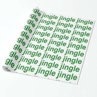 Jingle Jingle Jingle Green White Christmas Wrapping Paper