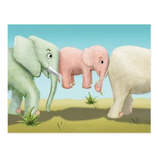 Jingle Jingle Little Gnome Elephants Postcard