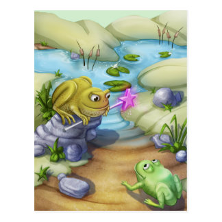 Jingle Jingle Little Gnome Frog & Toad Postcard