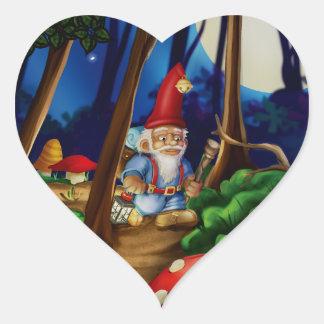 Jingle Jingle Little Gnome Heart Stickers