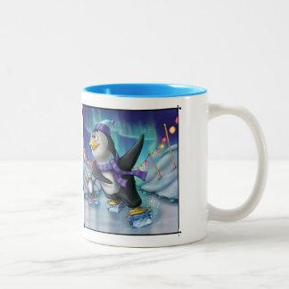Jingle Jingle Little Gnome Skating Penguin Mug