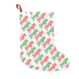 Jingle Jingle Red Green White Christmas Small Christmas Stocking