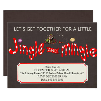 Jingle & Mingle Christmas Party Invitation
