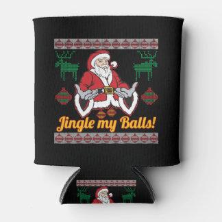 Jingle My Balls Santa Claus Ugly Christmas Sweater Can Cooler