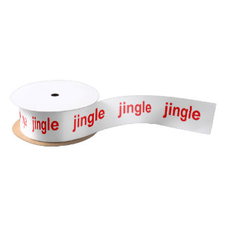 Jingle Red Satin Ribbon