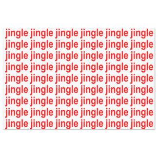 Jingle Red White Christmas Tissue Paper