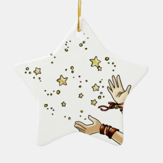 Jingle Star Ceramic Ornament