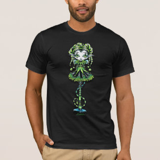 Jinxy Harlequin Green Jester Pixie T-Shirt