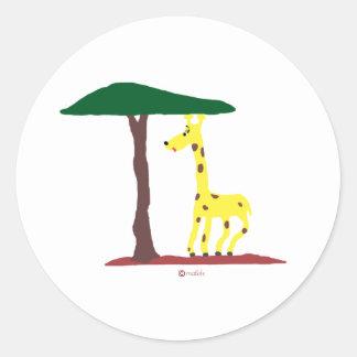 Jirafa Round Sticker