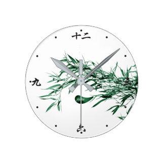 Jitaku Bamboo Leaves Clock