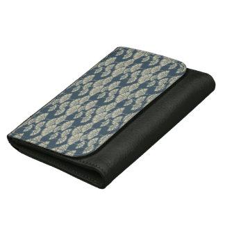 Jitaku Blue Lotus Leaves Pattern Wallet