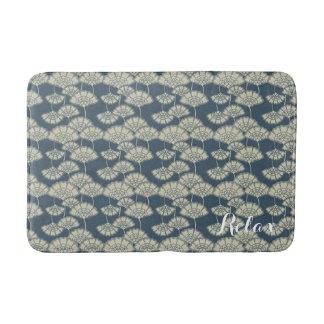 Jitaku Blue Lotus Pattern Bath Mat