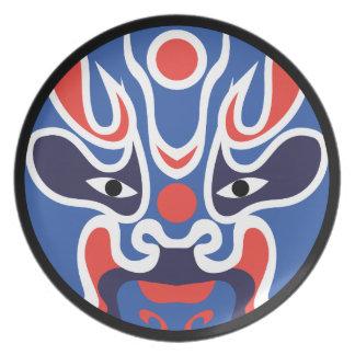 Jitaku Blue Mask Melamine Plate