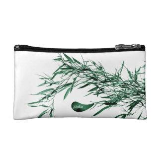 Jitaku Green Bamboo Leaves Cosmetic Bag