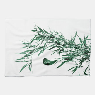 Jitaku Green Bamboo Leaves Kitchen Towel