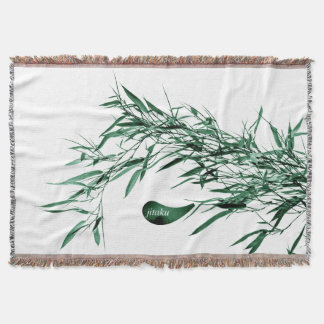 Jitaku Green Bamboo Throw Blanket