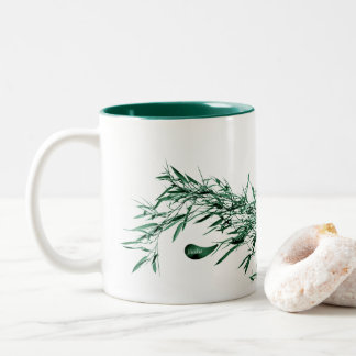 Jitaku Green Bamboo Two-Tone Mug