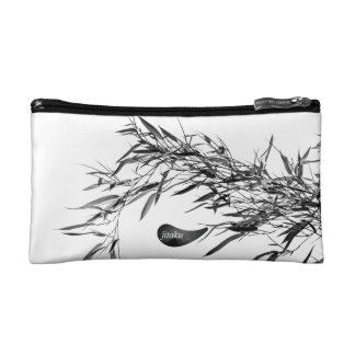 Jitaku Grey Bamboo Leaves Cosmetic Bag