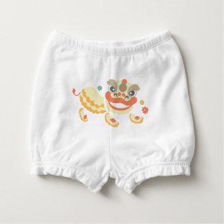 Jitaku Lion Dance Baby Ruffled Diaper Bloomers Diaper Cover