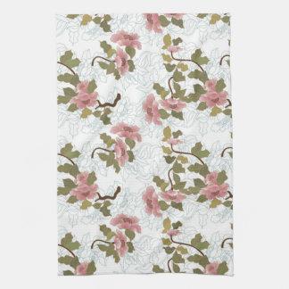 Jitaku Lotus Pattern Kitchen Towel