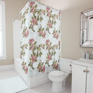 Jitaku Lotus Pattern Shower Curtain