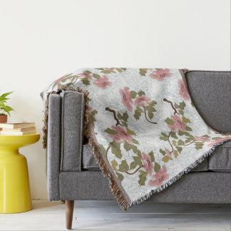 Jitaku Lotus Pattern Throw Blanket