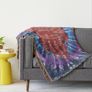 Jitaku Palm Reading Tie-Dye Throw Blanket