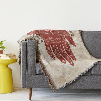 Jitaku Palm Reading Wrinkled Paper Throw Blanket