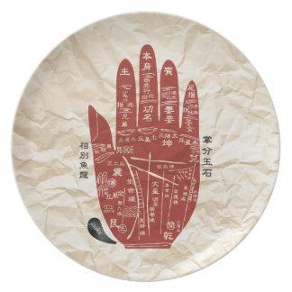 Jitaku Palm Wrinkled Melamine Plate